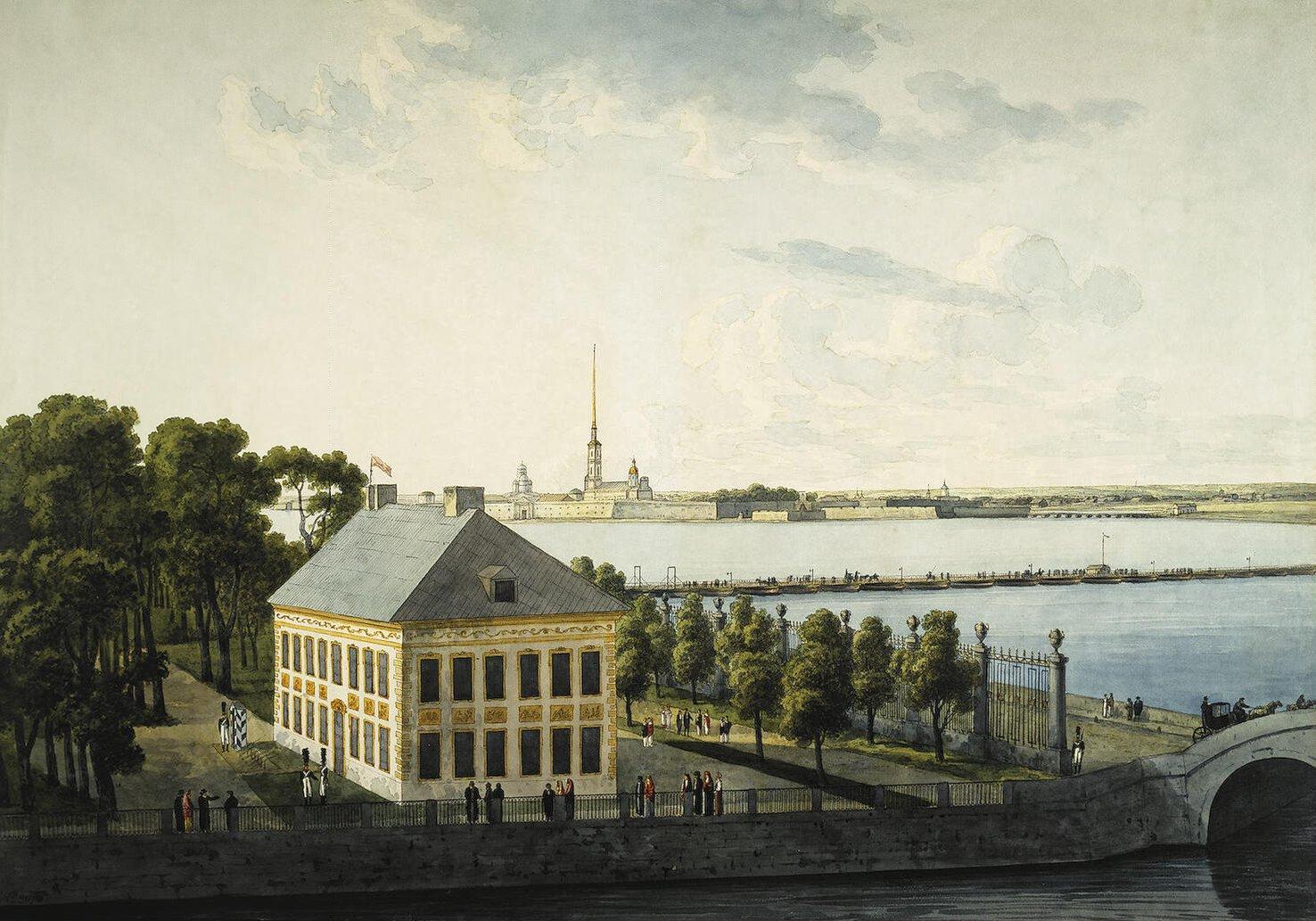 Palazzo d'estate di Pietro il Grande, acquarello del 1810, Museo dell'Ermitage, San Pietroburgo